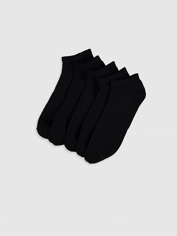 Siyah Patik Çorap 5'li 0S2816Z8 LC Waikiki