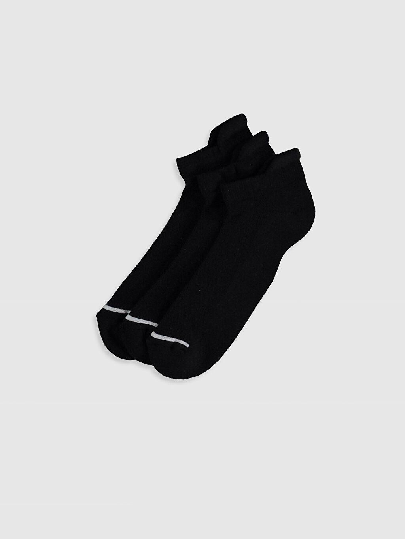 Siyah Sneaker Çorap 3'lü 0S2825Z8 LC Waikiki