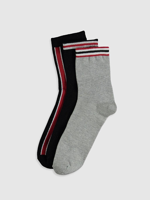 Çok Renkli Çizgili Patik Çorap 3'lü 0S2827Z8 LC Waikiki