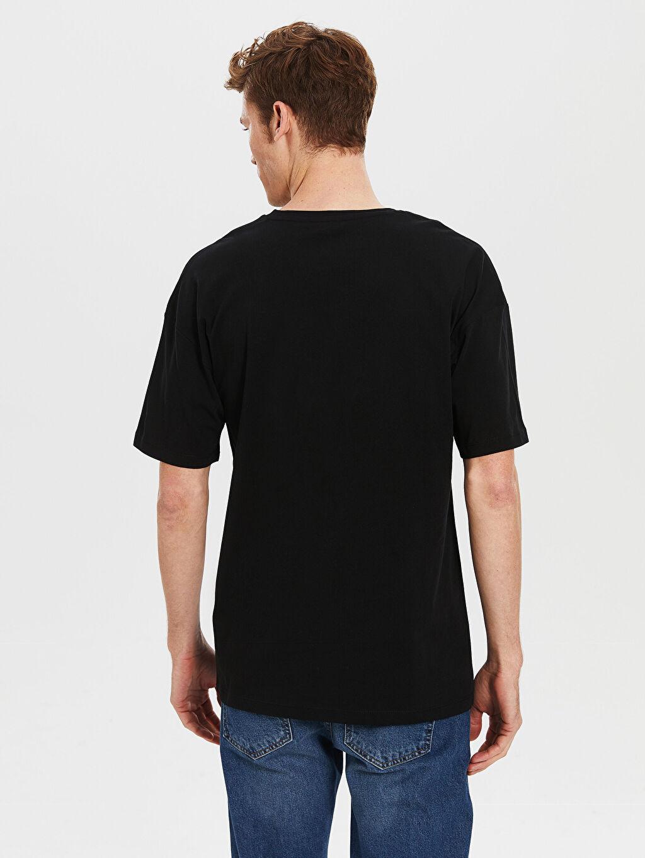 Erkek Oversize Baskılı Penye Tişört