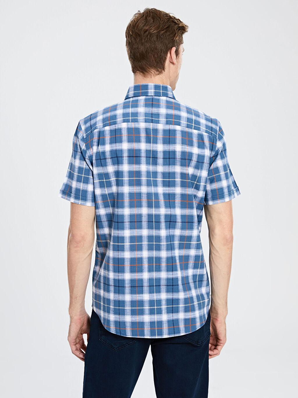 Erkek Kareli Normal Kısa Kollu Gömlek