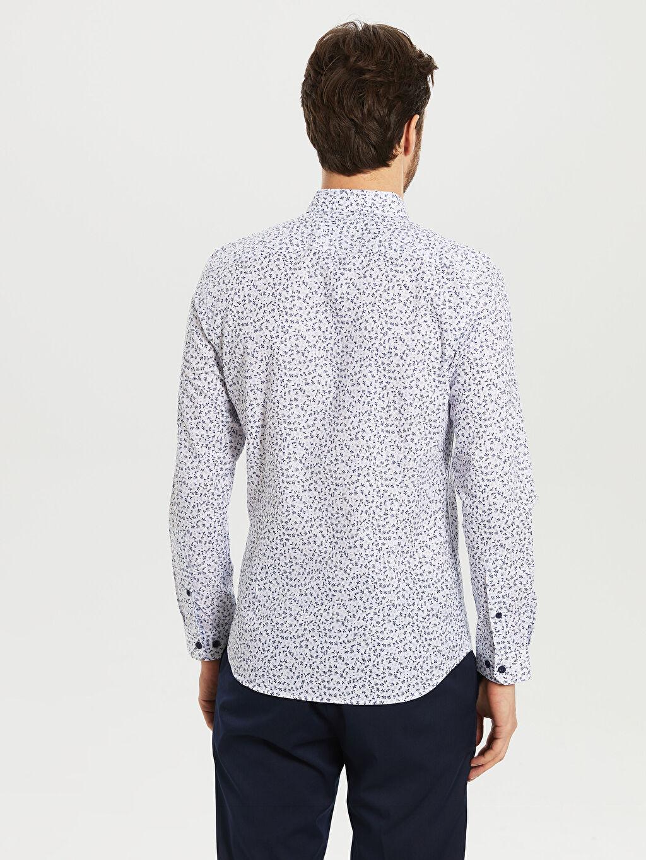 Erkek Desenli Uzun Kollu Gömlek