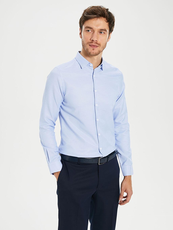 Mavi Ekstra Slim Fit Armürlü Gömlek 0S3133Z8 LC Waikiki