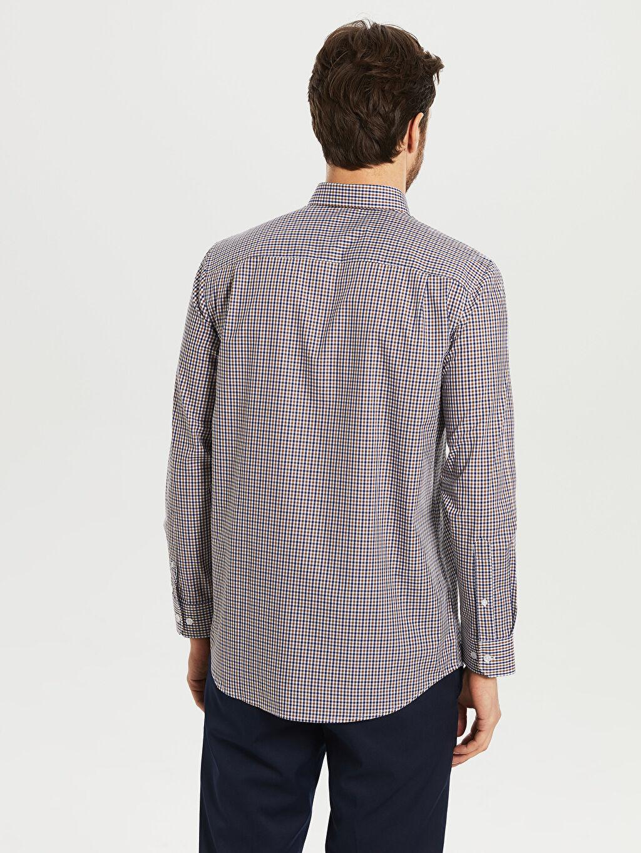 Erkek Kareli Normal Uzun Kollu Gömlek
