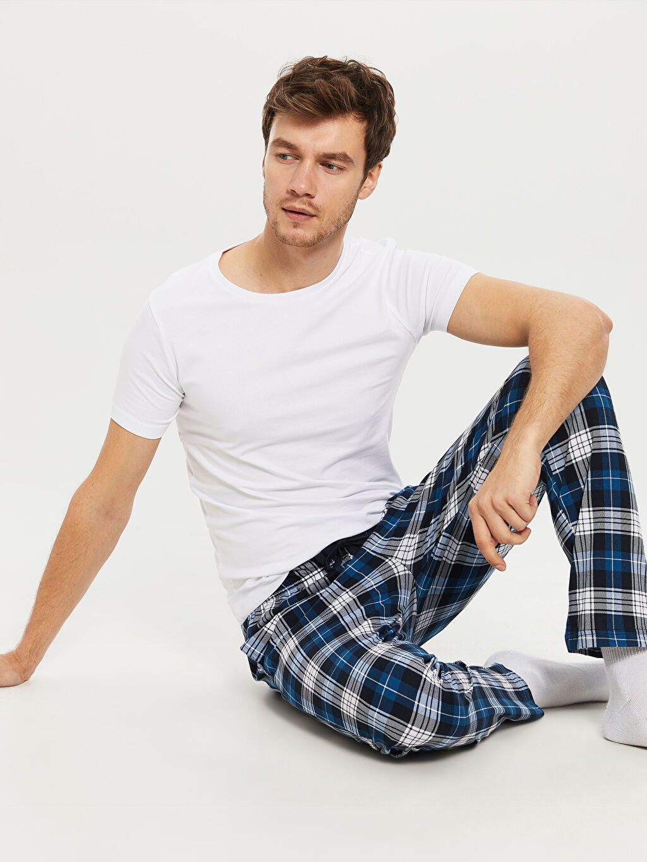 %100 Pamuk Standart Pijamalar Standart Kalıp Penye Pijama Altı
