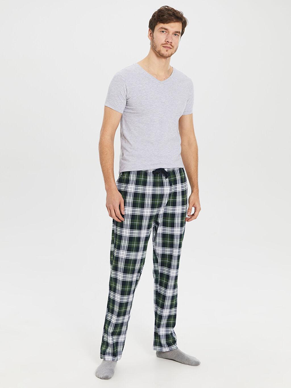 Yeşil Standart Kalıp Penye Pijama Altı 0S3208Z8 LC Waikiki