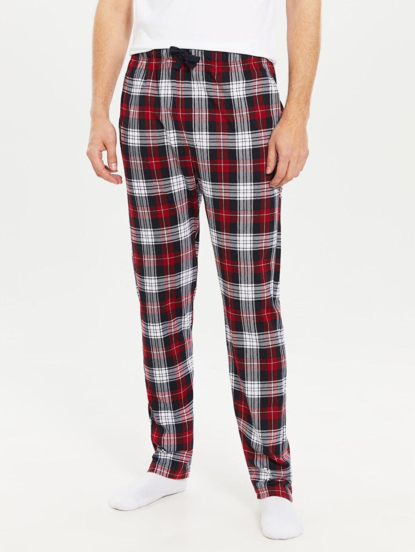 %100 Pamuk Standart Kalıp Penye Pijama Altı