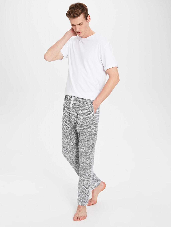 %51 Pamuk %49 Polyester Standart Pijamalar Standart Kalıp Pijama Alt