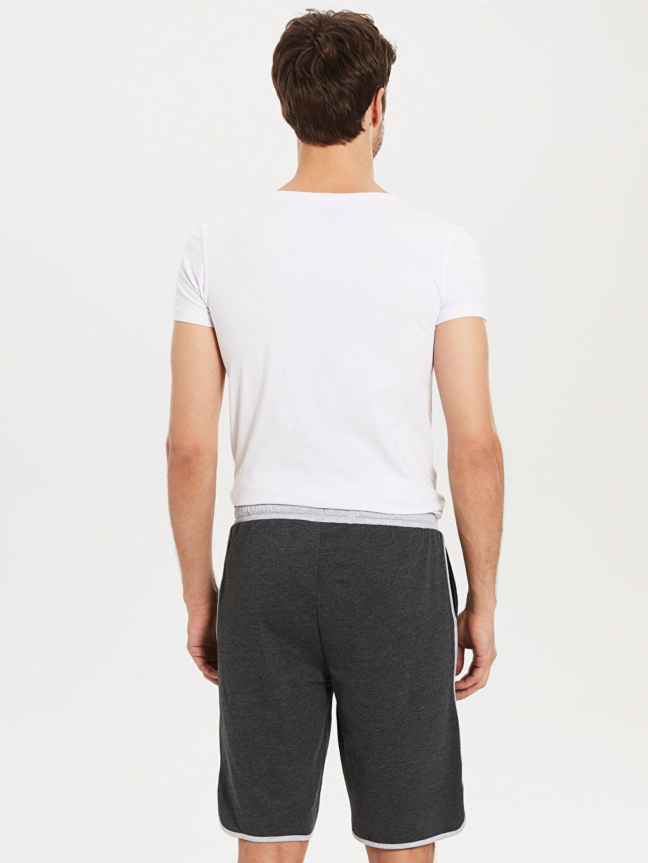 %50 Pamuk %50 Polyester Standart Pijamalar Standart Kalıp Şort Pijama Altı