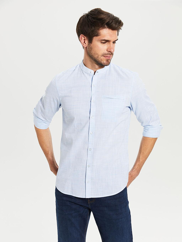 Mavi Slim Fit Poplin Gömlek 0S3321Z8 LC Waikiki