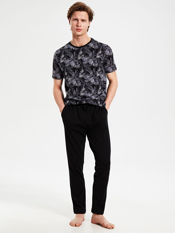 %100 Pamuk Standart Pijamalar Standart Kalıp Penye Pijama Takımı