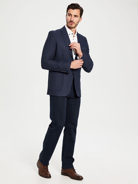 %100 Polyester Standart Kalıp Takım Elbise Ceketi