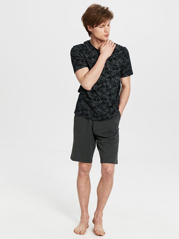 %100 Pamuk Standart Pijamalar Standart Kalıp Pijama Takımı