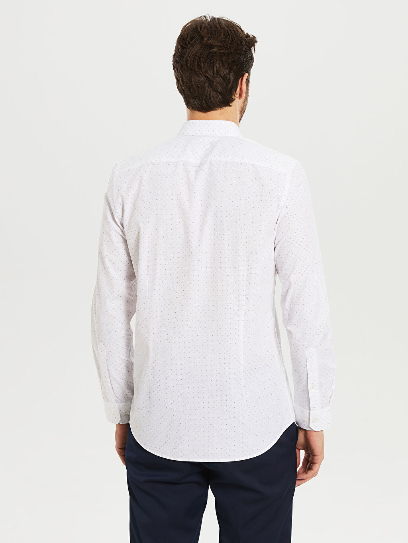 Erkek Desenli Dar Uzun Kollu Gömlek