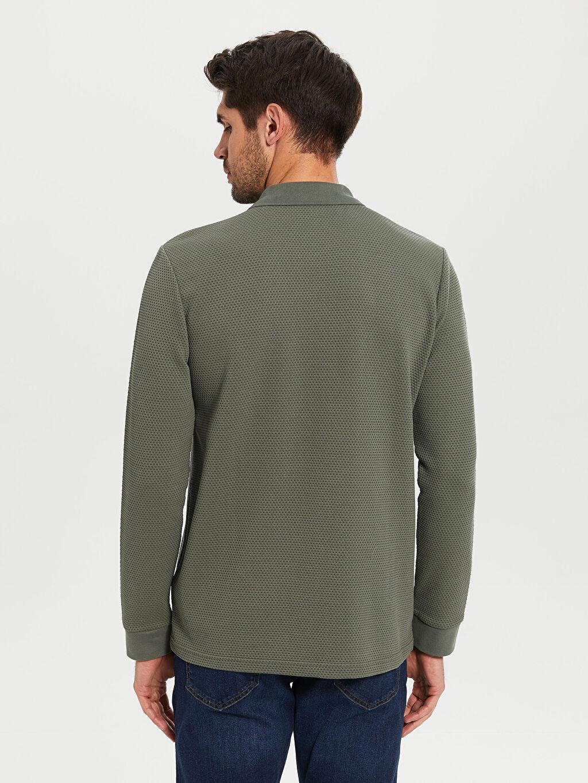 Erkek Polo Yaka Basic Uzun Kollu Tişört