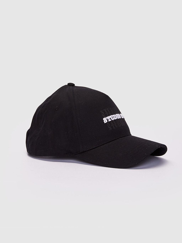 Siyah Yazı Baskılı Şapka 0S4143Z8 LC Waikiki