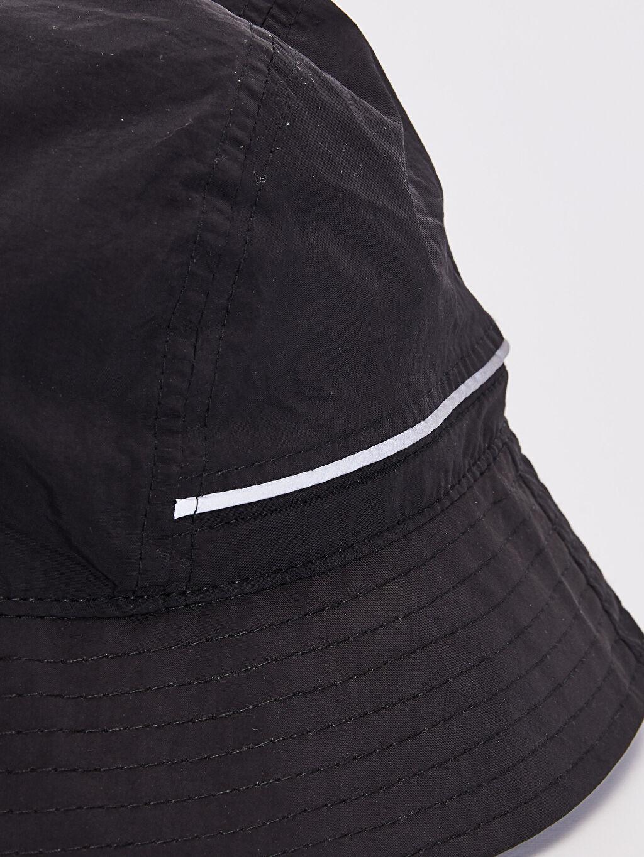 %100 Poliamid  Şerit Detaylı Bucket Şapka
