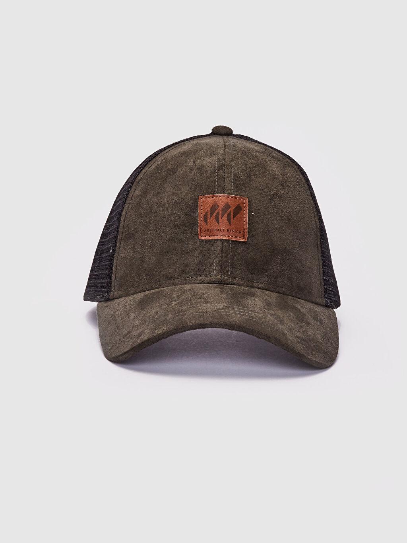 %100 Polyester  File Detaylı Süet Şapka