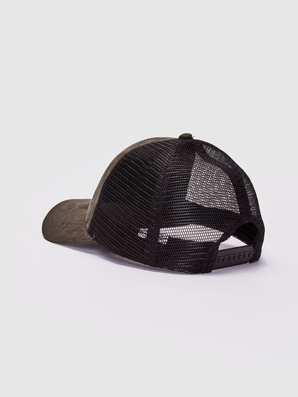 Erkek File Detaylı Süet Şapka