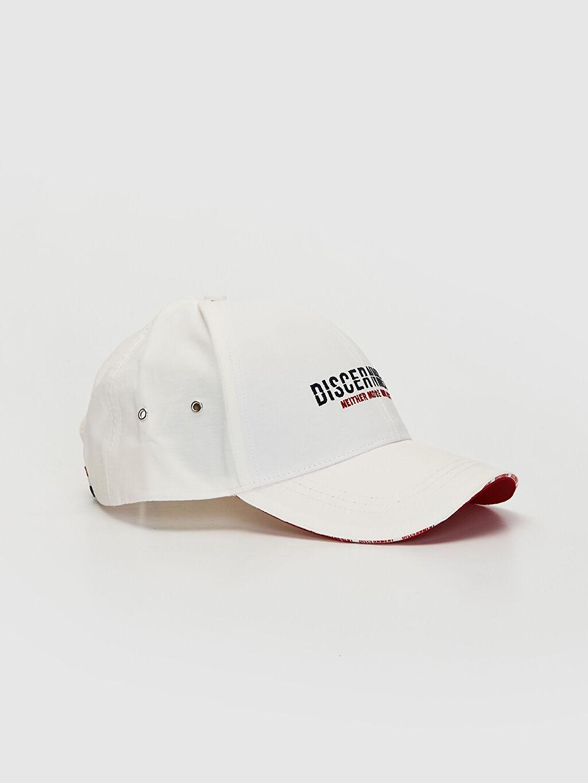 Beyaz Yazı Nakışlı Şapka 0S4164Z8 LC Waikiki