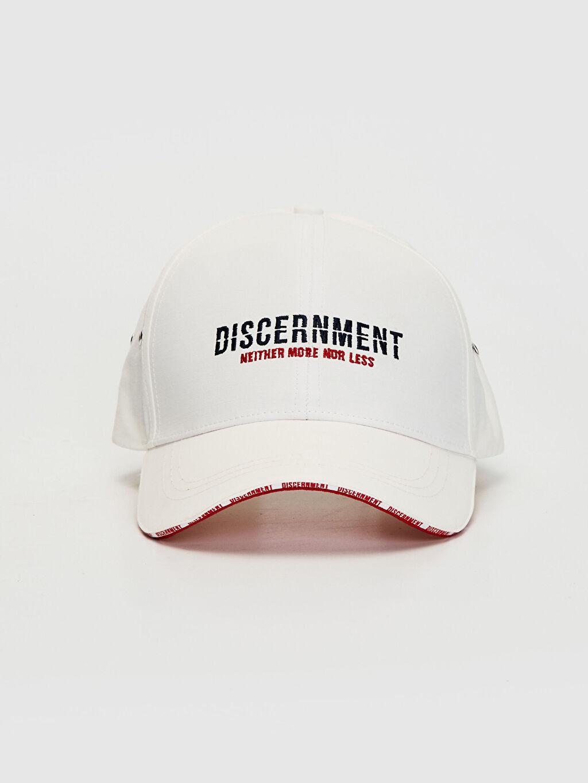 %60 Pamuk %40 Poliamid  Yazı Nakışlı Şapka