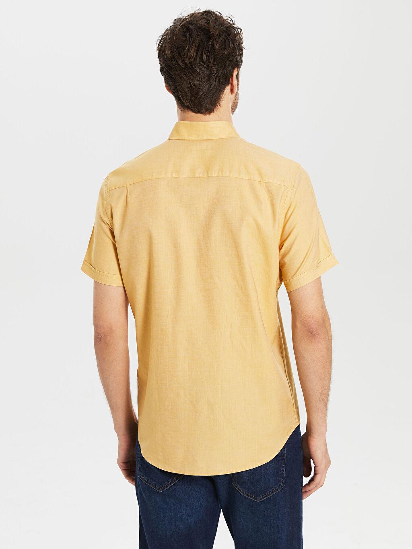 Erkek Regular Fit Gabardin Kısa Kollu Gömlek