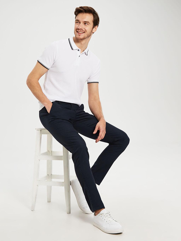 Lacivert Slim Fit Bilek Boy Pantolon 0S4758Z8 LC Waikiki
