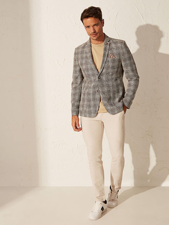 %95 Pamuk %5 Elastan Dar Normal Bel Pilesiz Pantolon Dar Kalıp Basic Pantolon