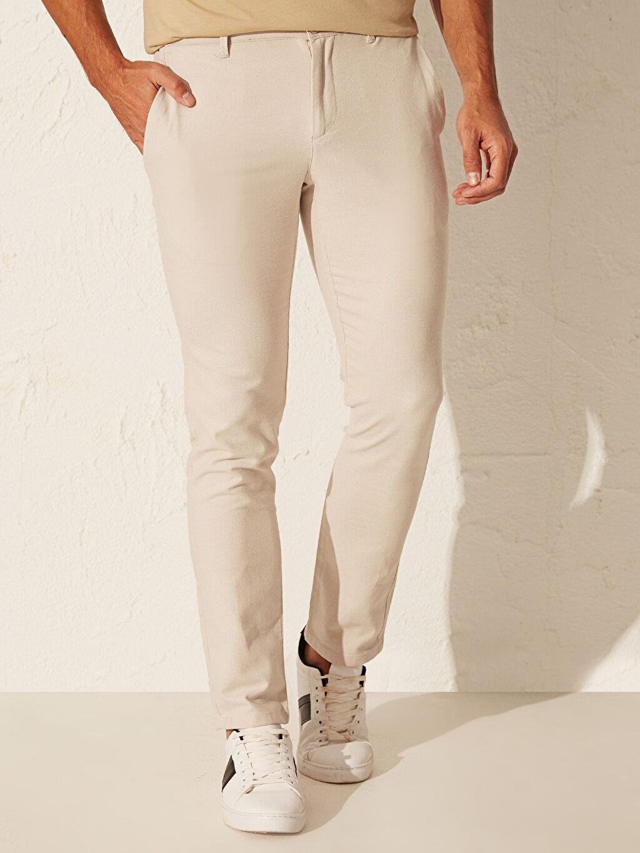 Erkek Dar Kalıp Basic Pantolon