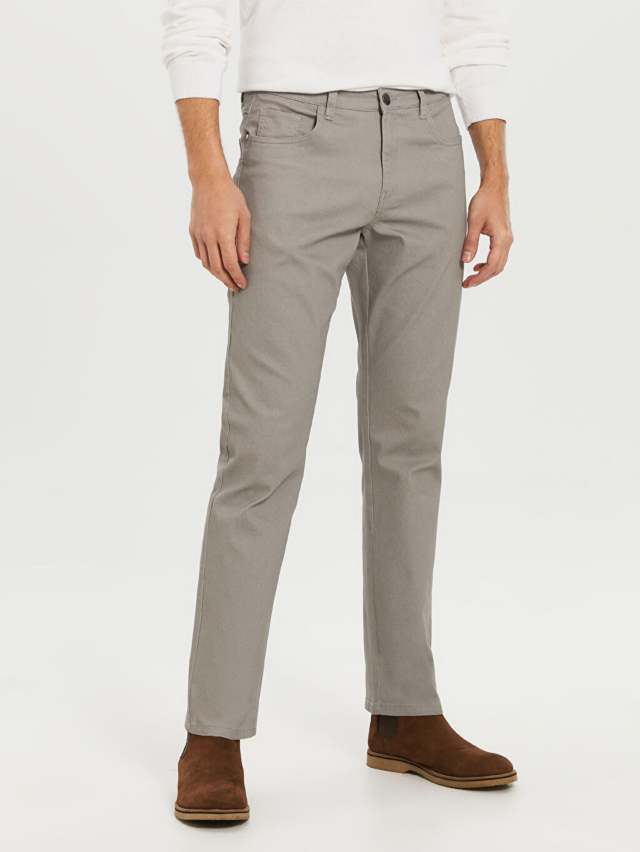 Erkek Regular Fit Gabardin Pantolon