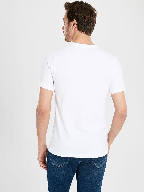 %96 Pamuk %4 Elastan V Yaka Basic Tişört