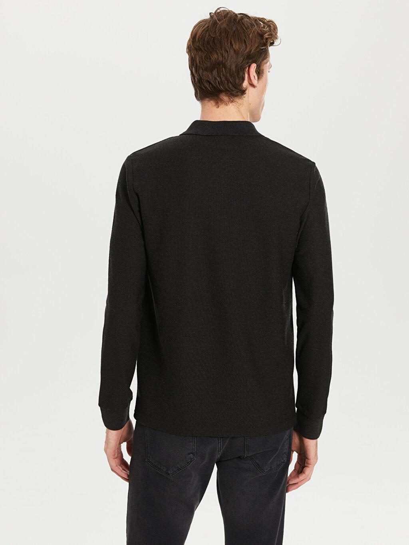 Erkek Düz Uzun Kollu Polo Tişört