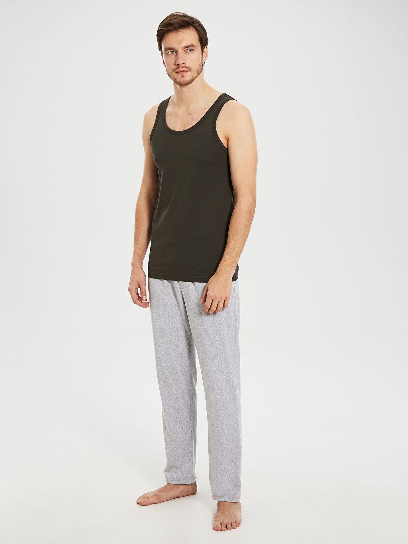 %100 Pamuk Standart İç Giyim Üst Standart Kalıp Atlet 2'li