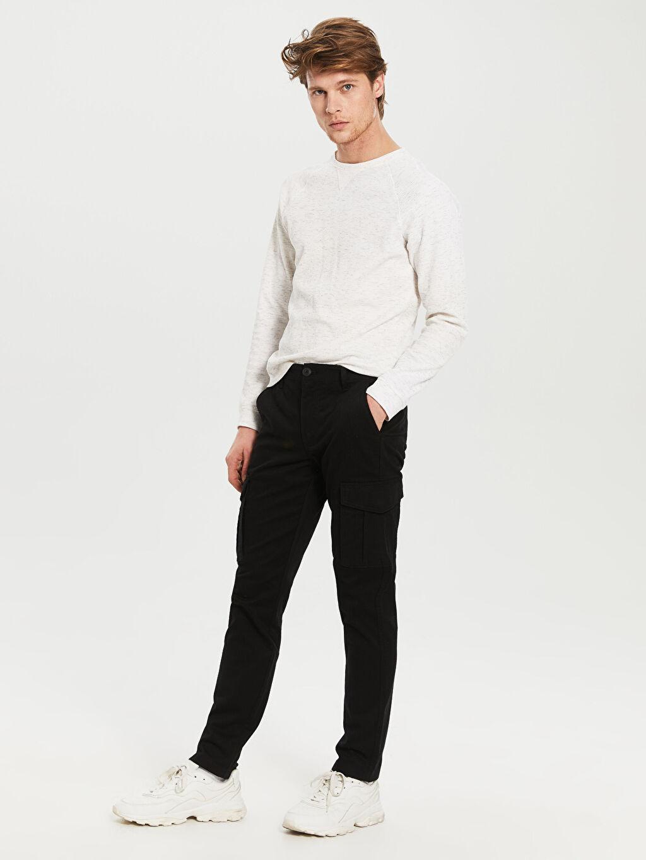 Siyah Normal Bel Dar Pilesiz Pantolon 0S5461Z8 LC Waikiki