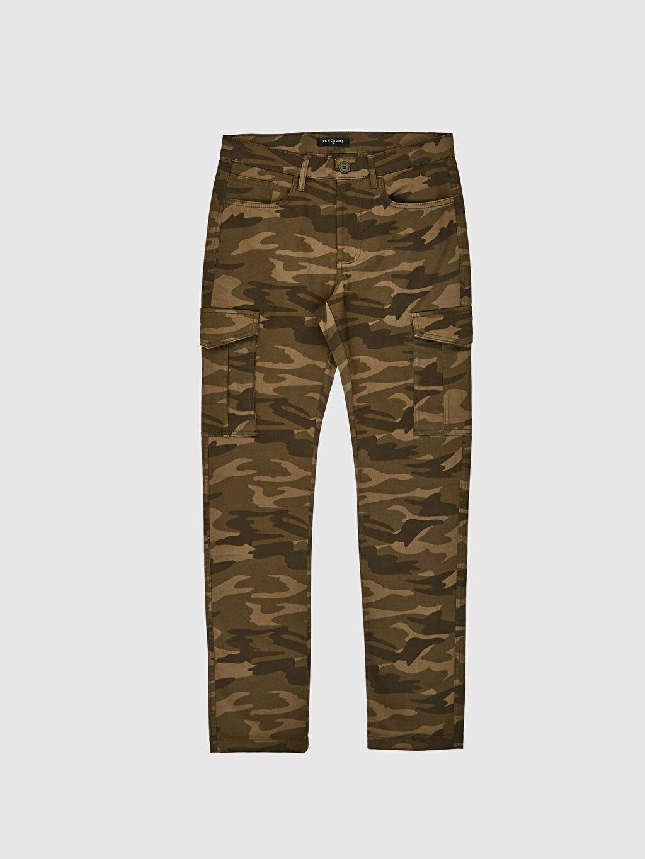 LC Waikiki Haki Slim Fit Kamuflaj Desenli Kargo Pantolon