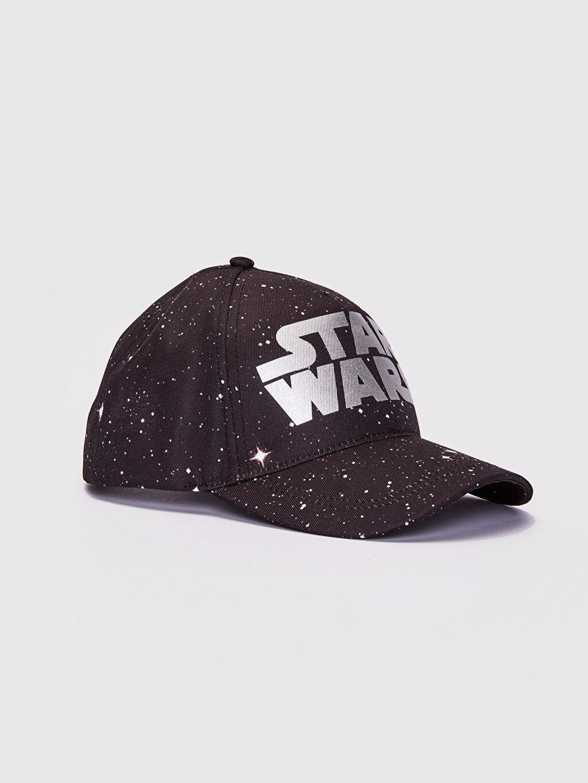 Siyah Star Wars Baskılı Şapka 0S5660Z8 LC Waikiki