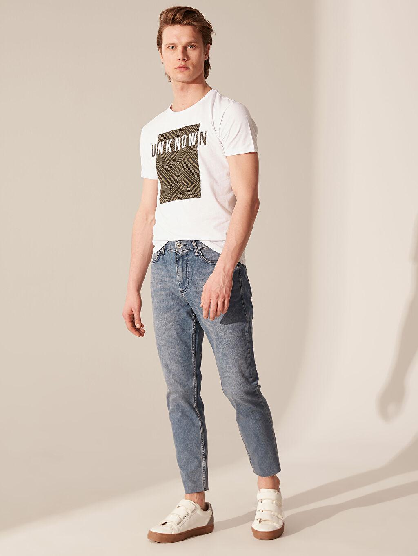 %84 Pamuk %14 Polyester %2 Elastan Normal Bel Jean Normal 740 Crop Fit Jean Pantolon