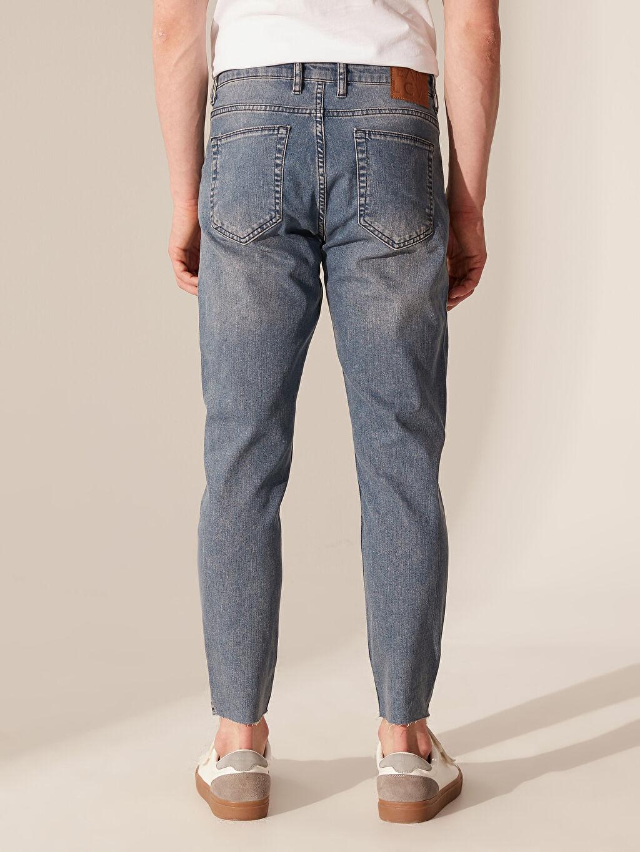 %84 Pamuk %14 Polyester %2 Elastan 740 Crop Fit Jean Pantolon