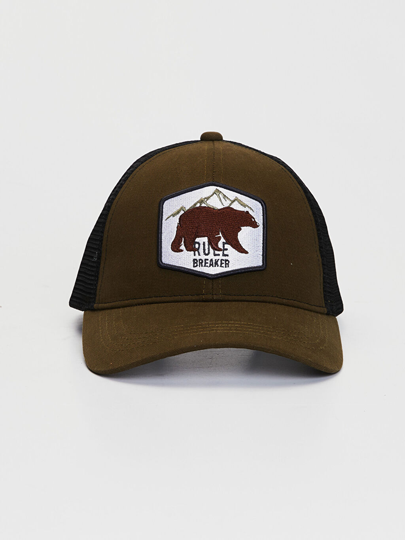 %89 Pamuk %11 Viskoz  Nakışlı File Şapka