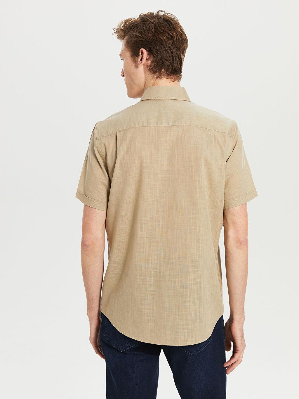 Erkek Regular Fit Kısa Kollu Basic Gömlek