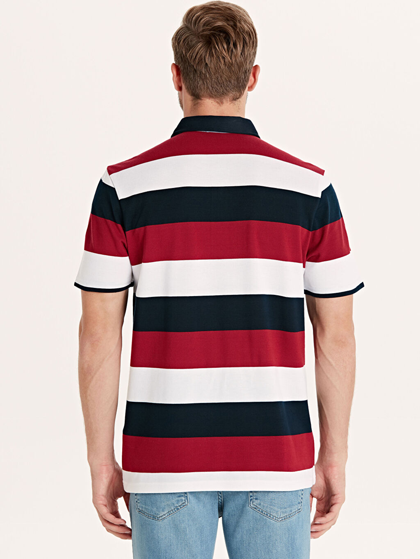 Erkek Rahat Kalıp Polo Yaka Çizgili Tişört