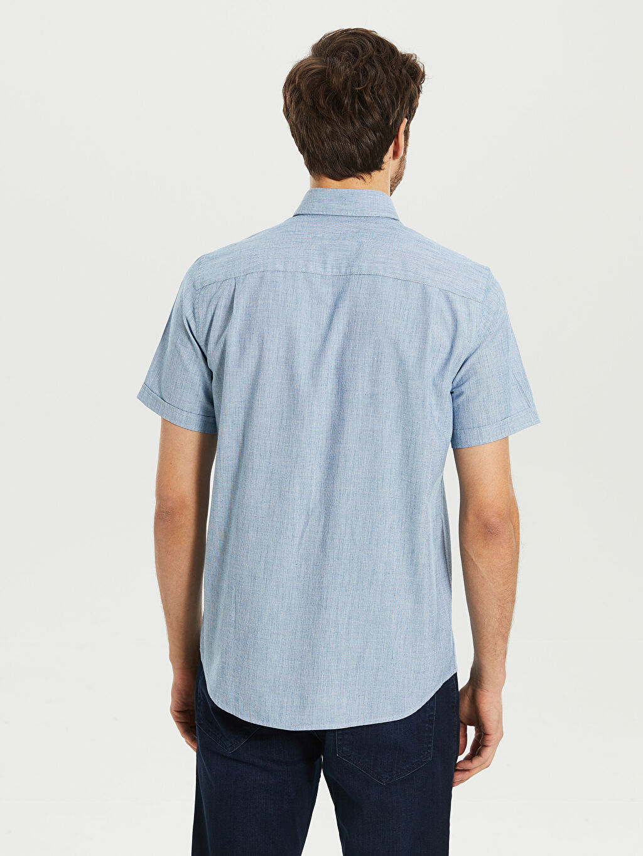Erkek regular Fit Basic Kısa Kollu Gömlek