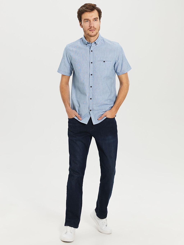 %100 Pamuk regular Fit Basic Kısa Kollu Gömlek