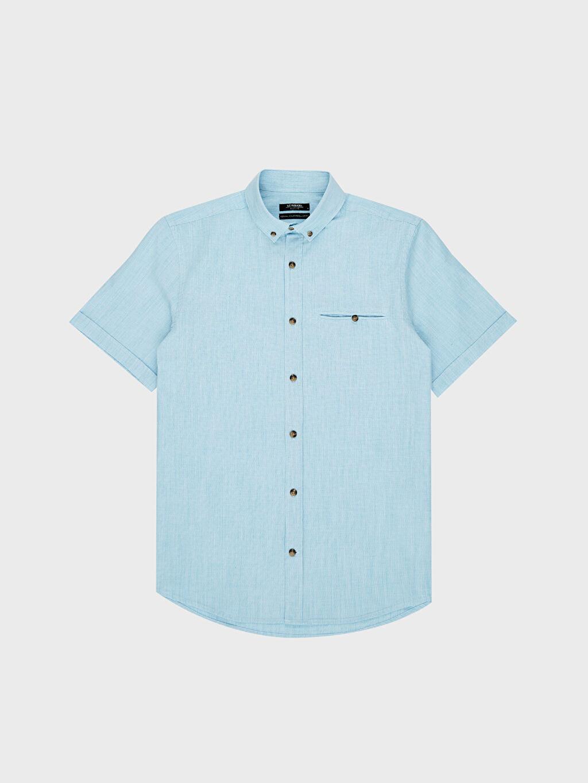 Turkuaz regular Fit Basic Kısa Kollu Gömlek