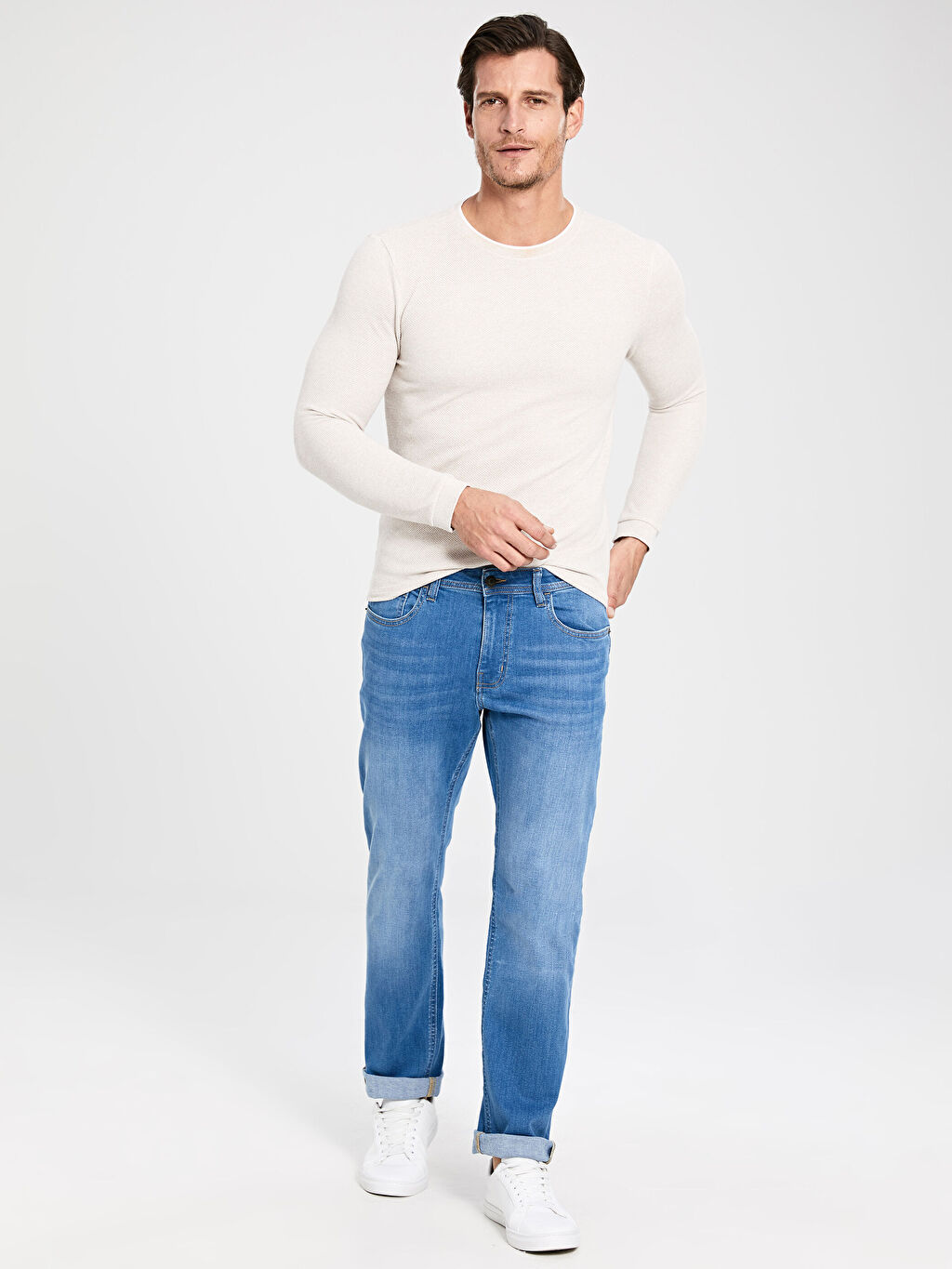 İndigo 879 Regular Fit Jean Pantolon 0S5813Z8 LC Waikiki