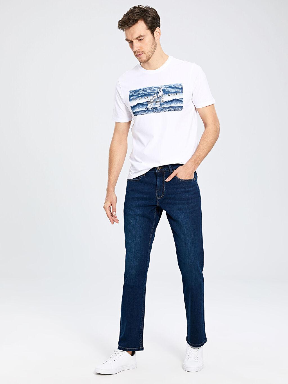 %99 Pamuk %1 Elastan Normal Bel Rahat Jean 890 Rahat Kalıp Jean Pantolon