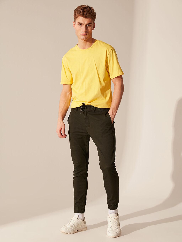 Yeşil Slim Fit Jogger Pantolon 0S6045Z8 LC Waikiki