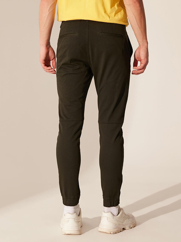 %97 Pamuk %3 Elastan Slim Fit Jogger Pantolon