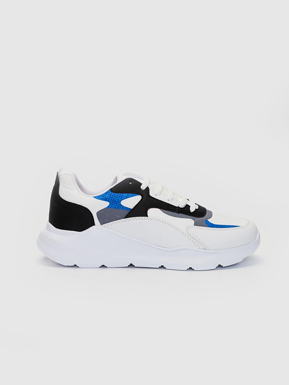 Beyaz Erkek Renk Bloklu Sneaker 0S6285Z8 LC Waikiki