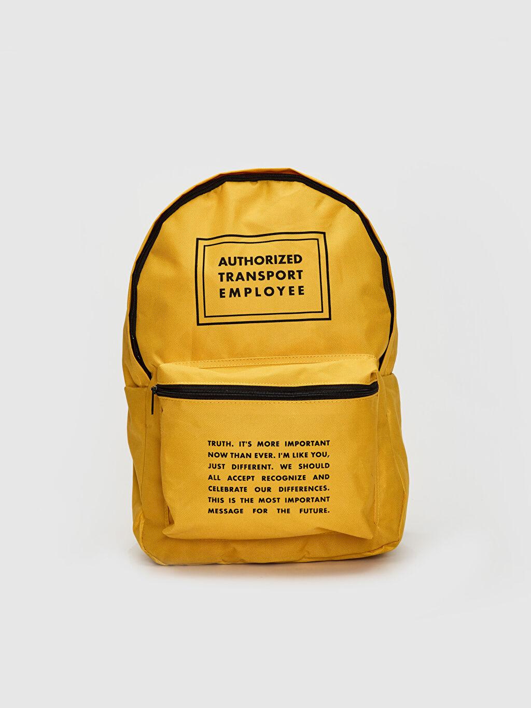 Sarı Yazı Baskılı Sırt Çantası 0S6296Z8 LC Waikiki